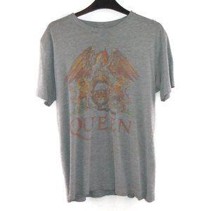 Vintage QUEEN Band Concert Shirt M Grey Gray